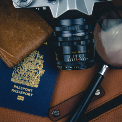 Passport and travel tickets